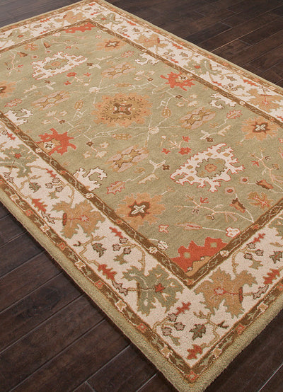 Poeme Maxine Leaf Green/Cloud White Area Rug