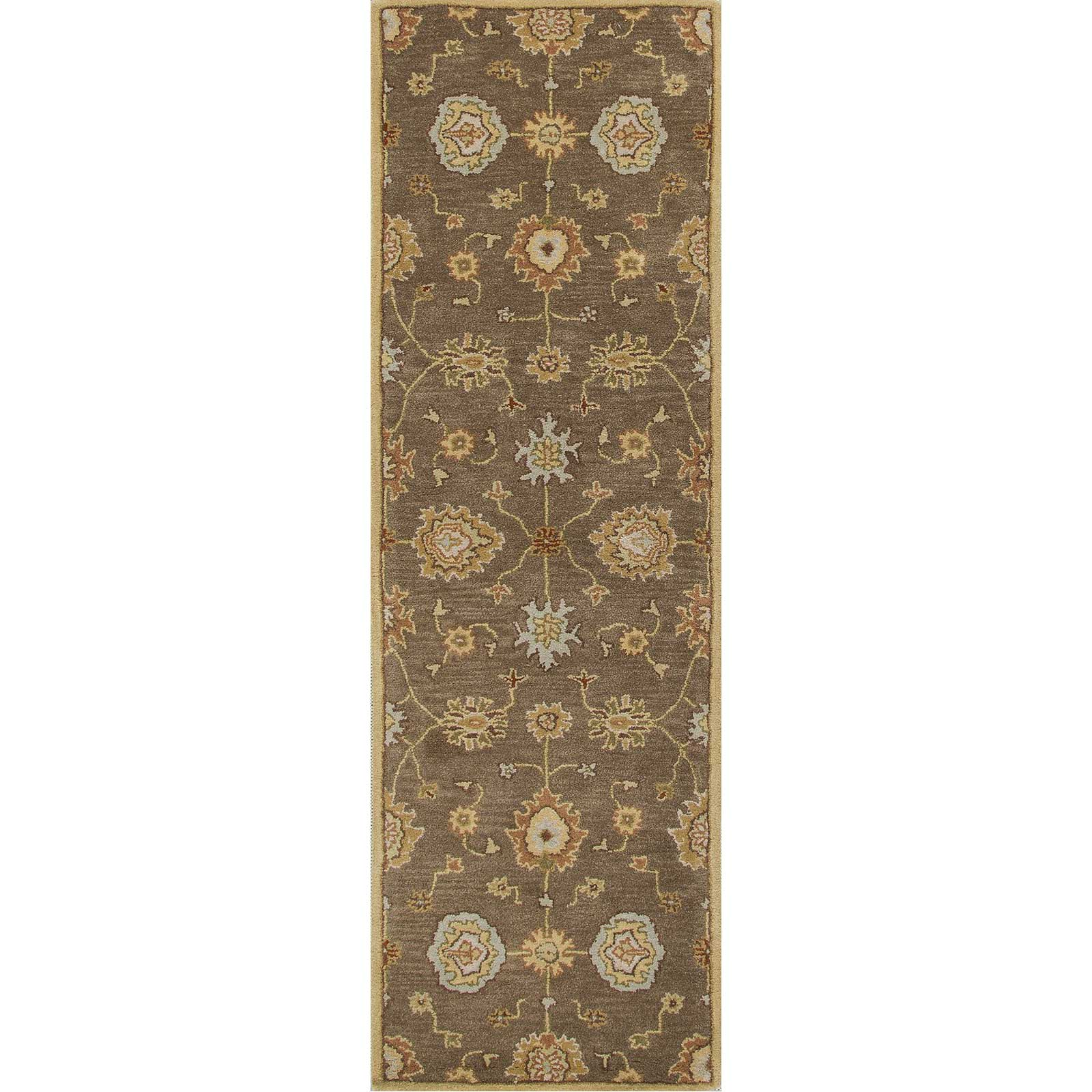 Poeme Nantes Gray Brown Runner Rug