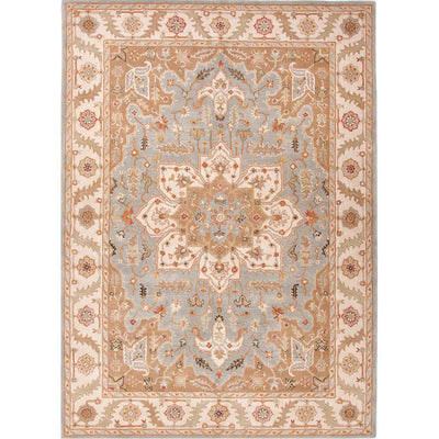 Poeme Orleans Blue Surf/Cloud White Area Rug