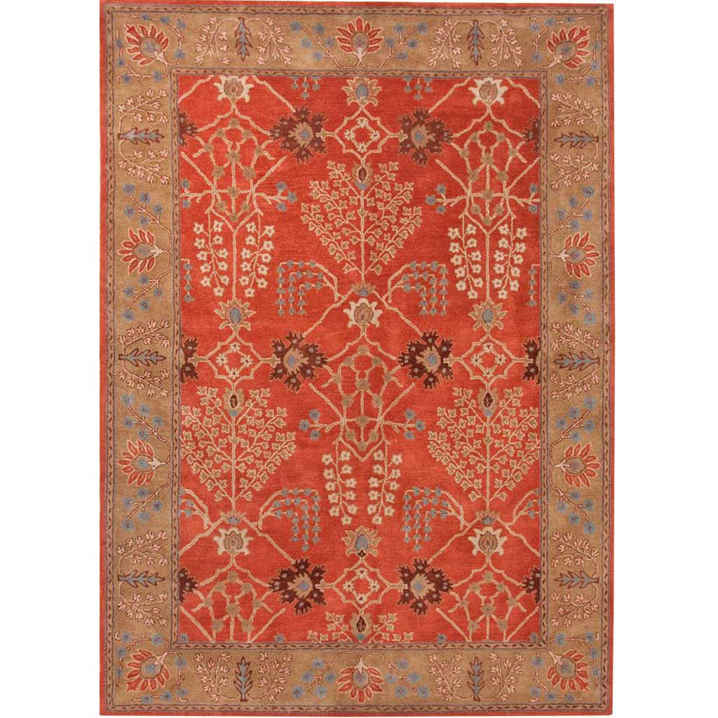 Poeme Chambery Orange Rust/Gold Brown Area Rug