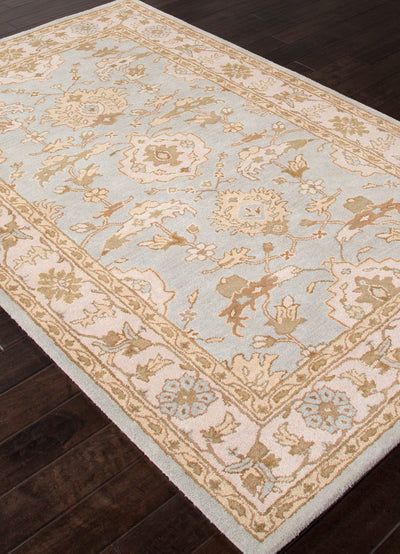 Poeme Summit Sky Blue/Antique White Area Rug