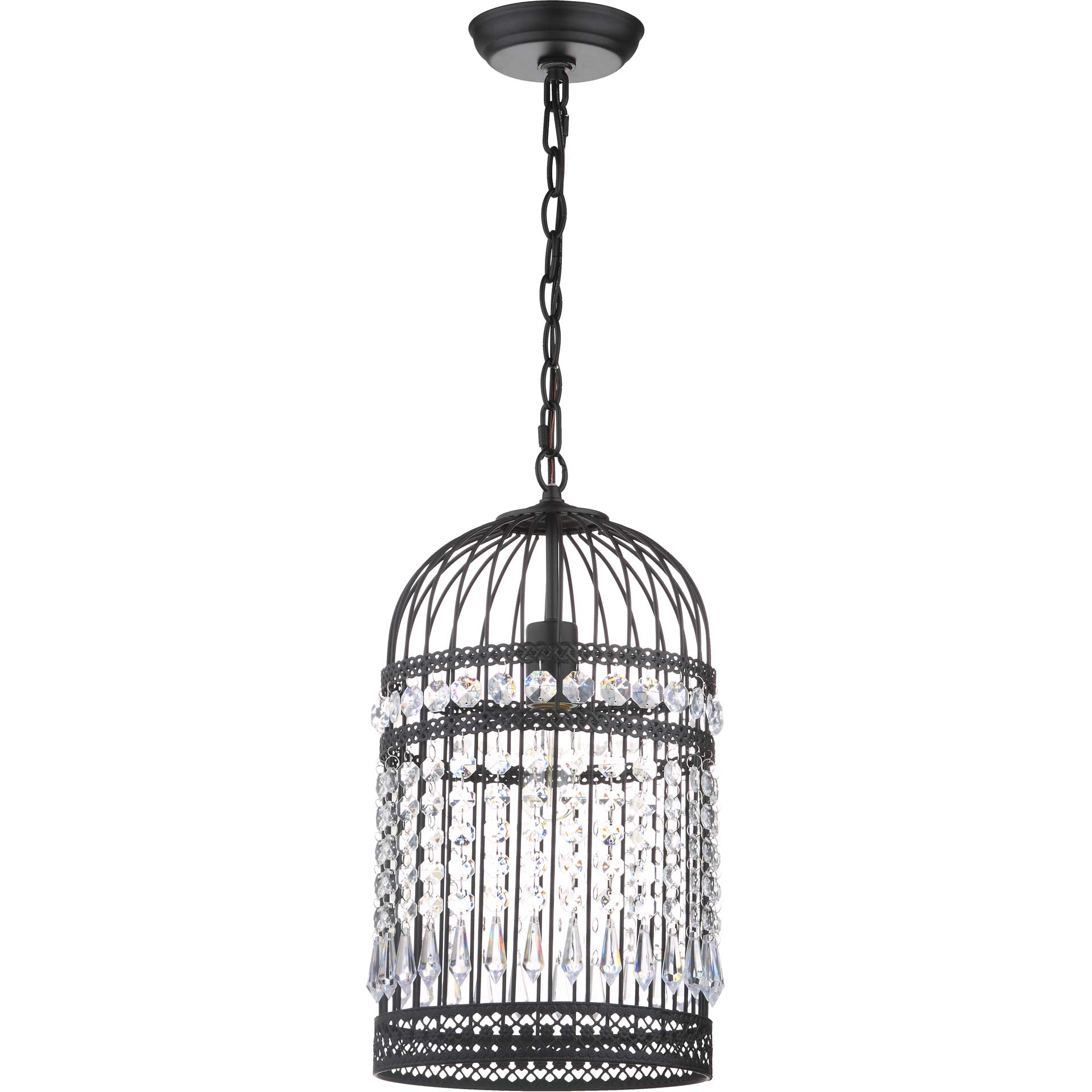 Eliana Bird Cage Adjustable Pendant Black