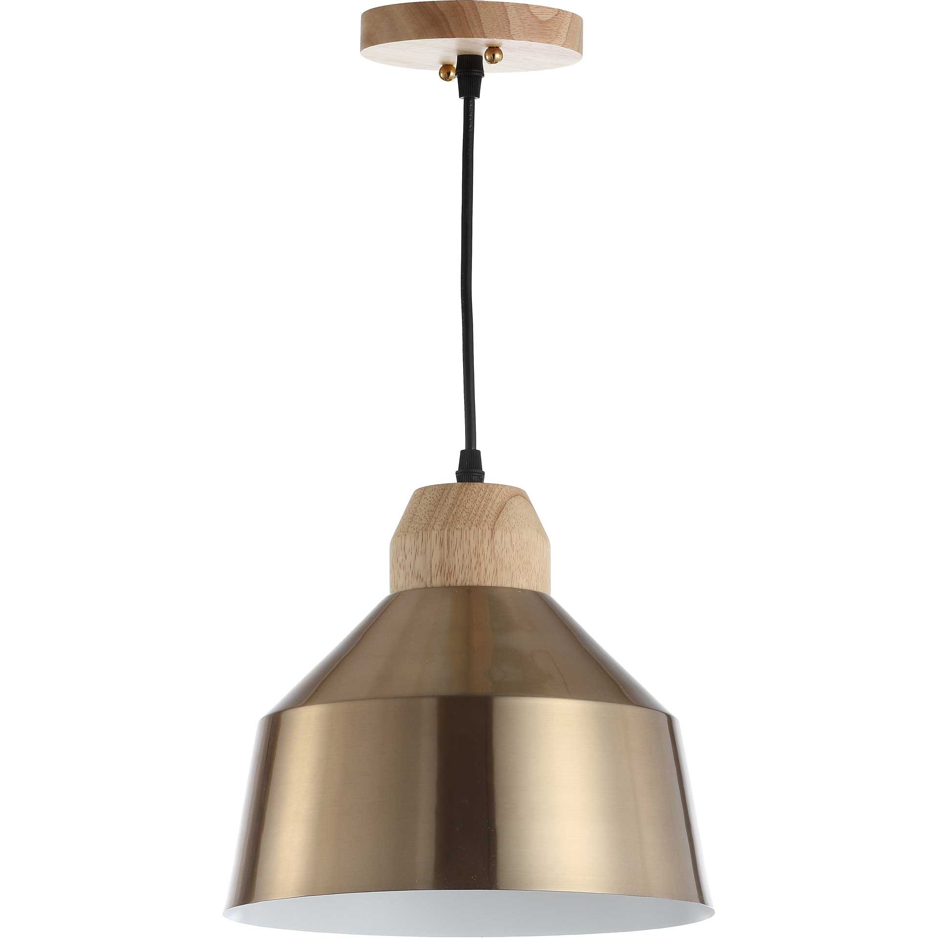 Damian Pendant Brass Gold/Light Brown