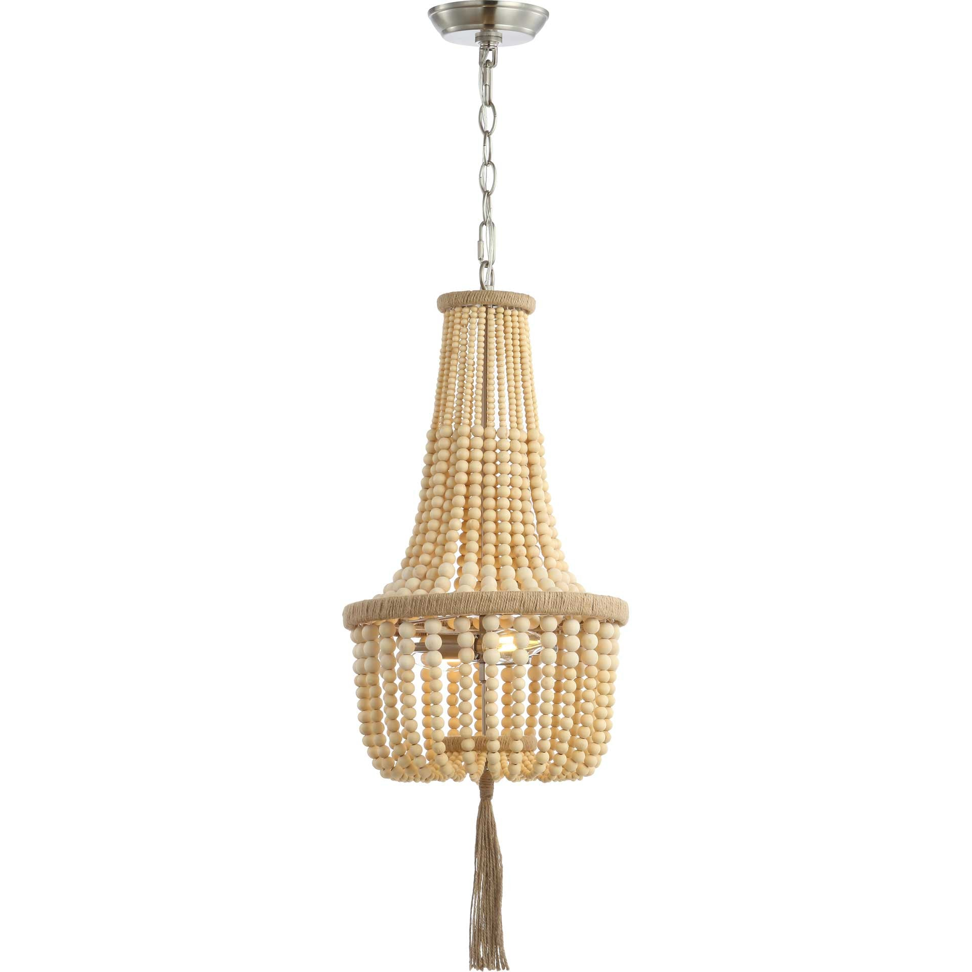 Wyat Pendant Brown/Brush Nickel