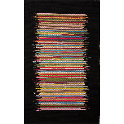 Prime Ellora Multi/Black Area Rug
