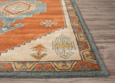 Preston Saratoga Red/Blue Area Rug