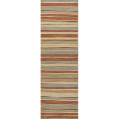 Pura Vida Tamarindo Sea Green/Rust Runner Rug