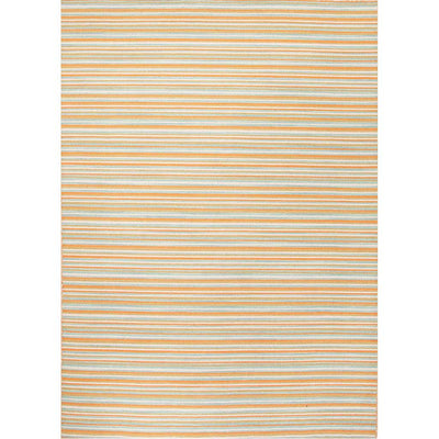 Pura Vida Pacifico Vermillion Orange Area Rug