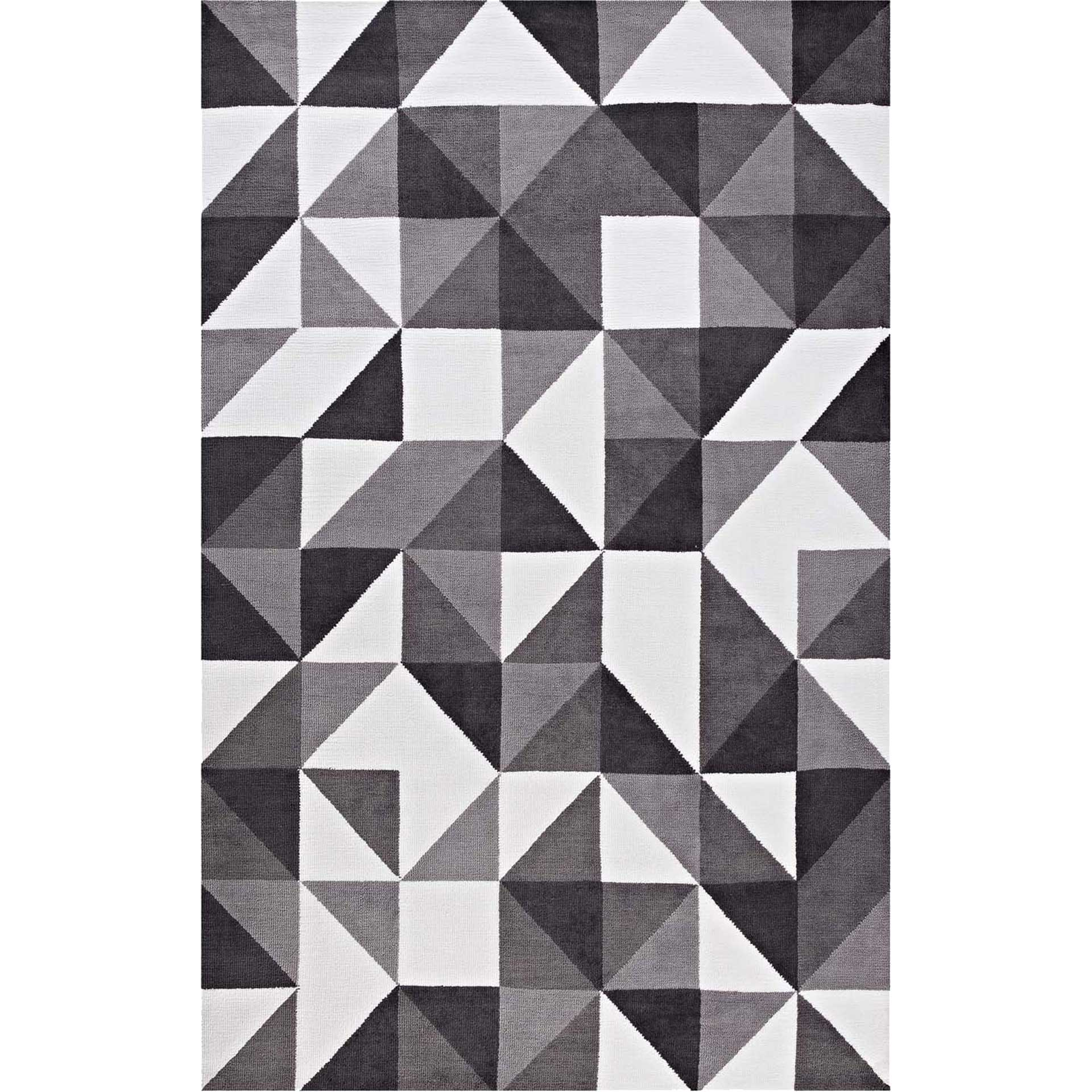 Kayes Mosaic Area Rug Black/Gray/White