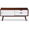 Arthus TV Cabinet White/Walnut