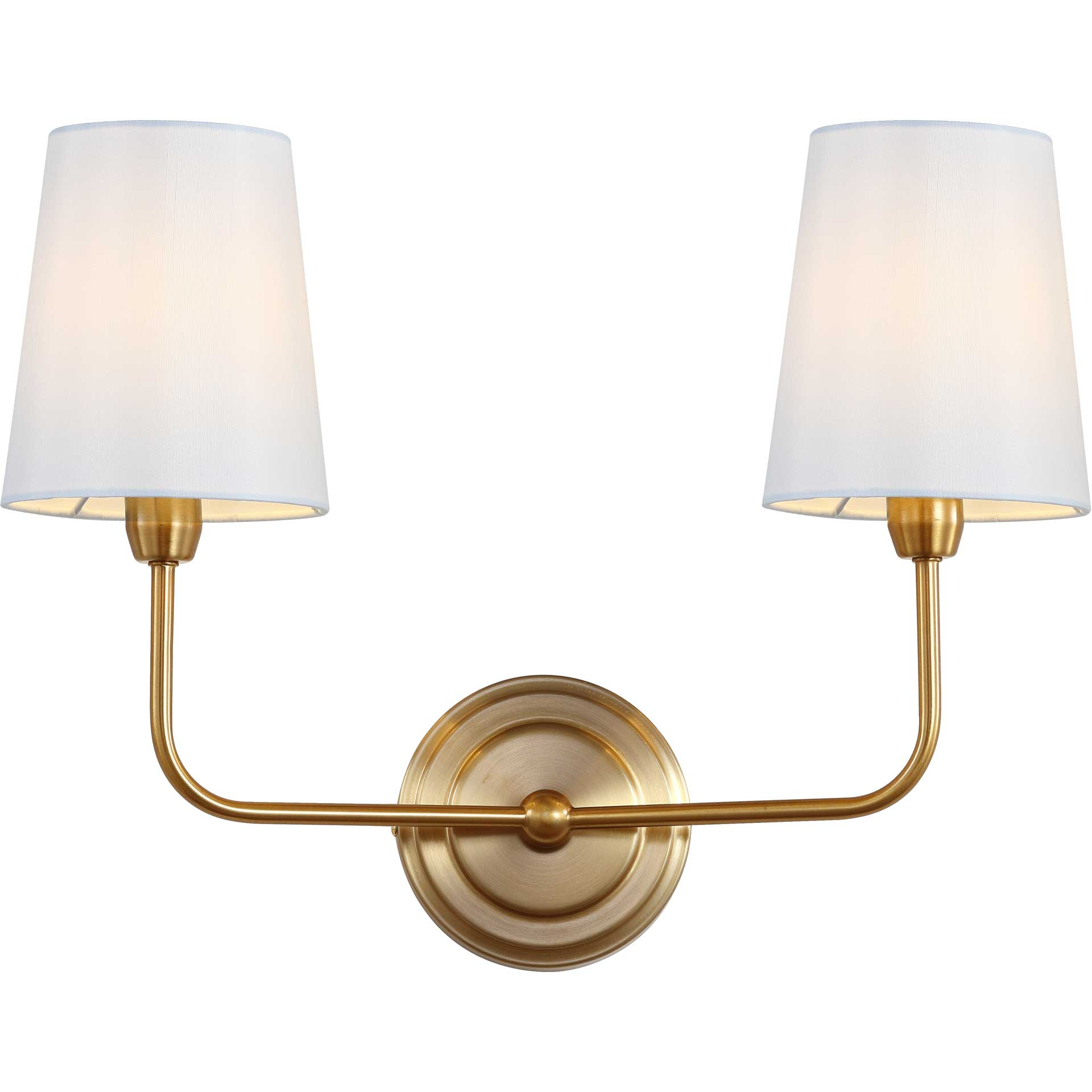 Ezequiel Two Light Wall Sconce Brass Gold