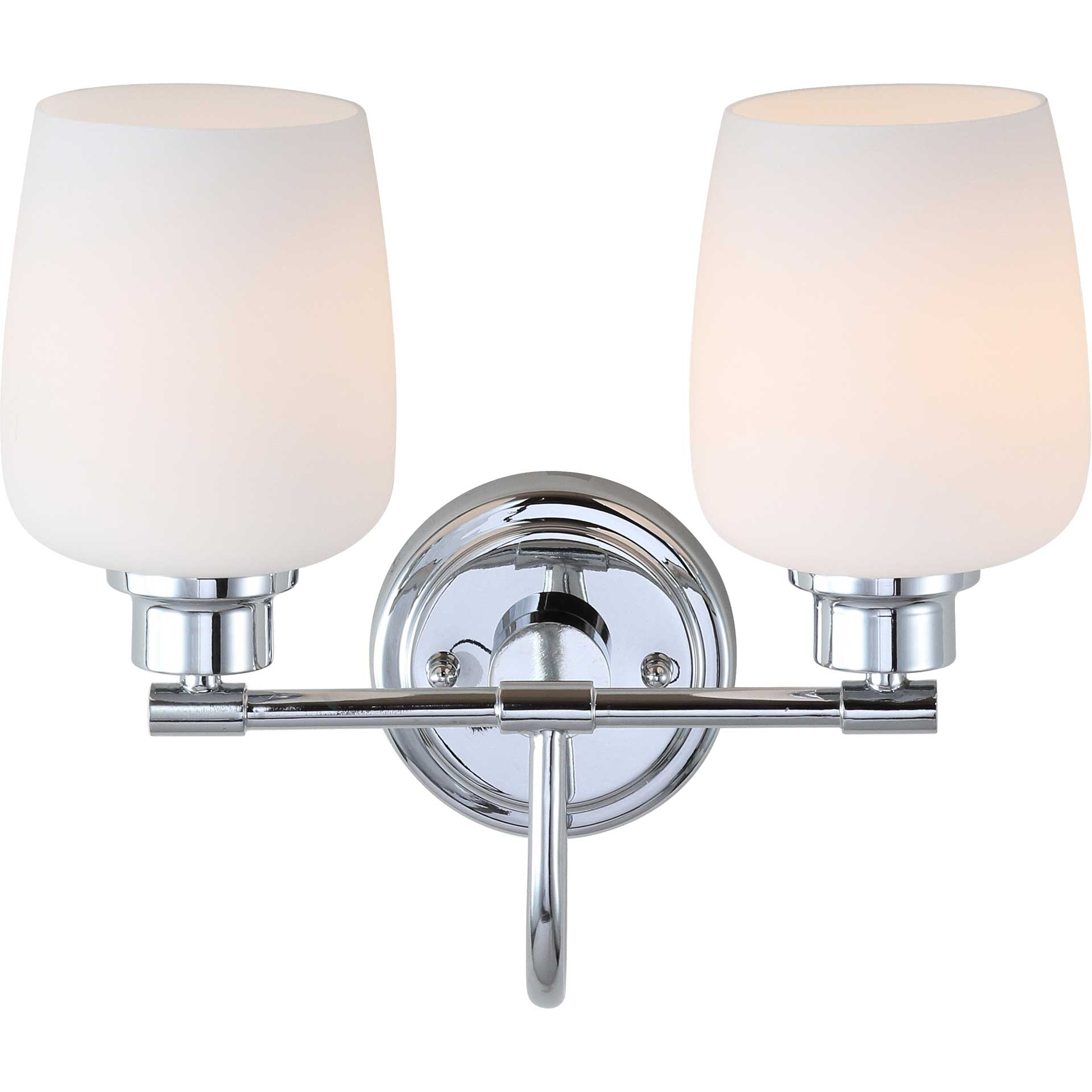 Raphael Two Light Bathroom Sconce Chrome