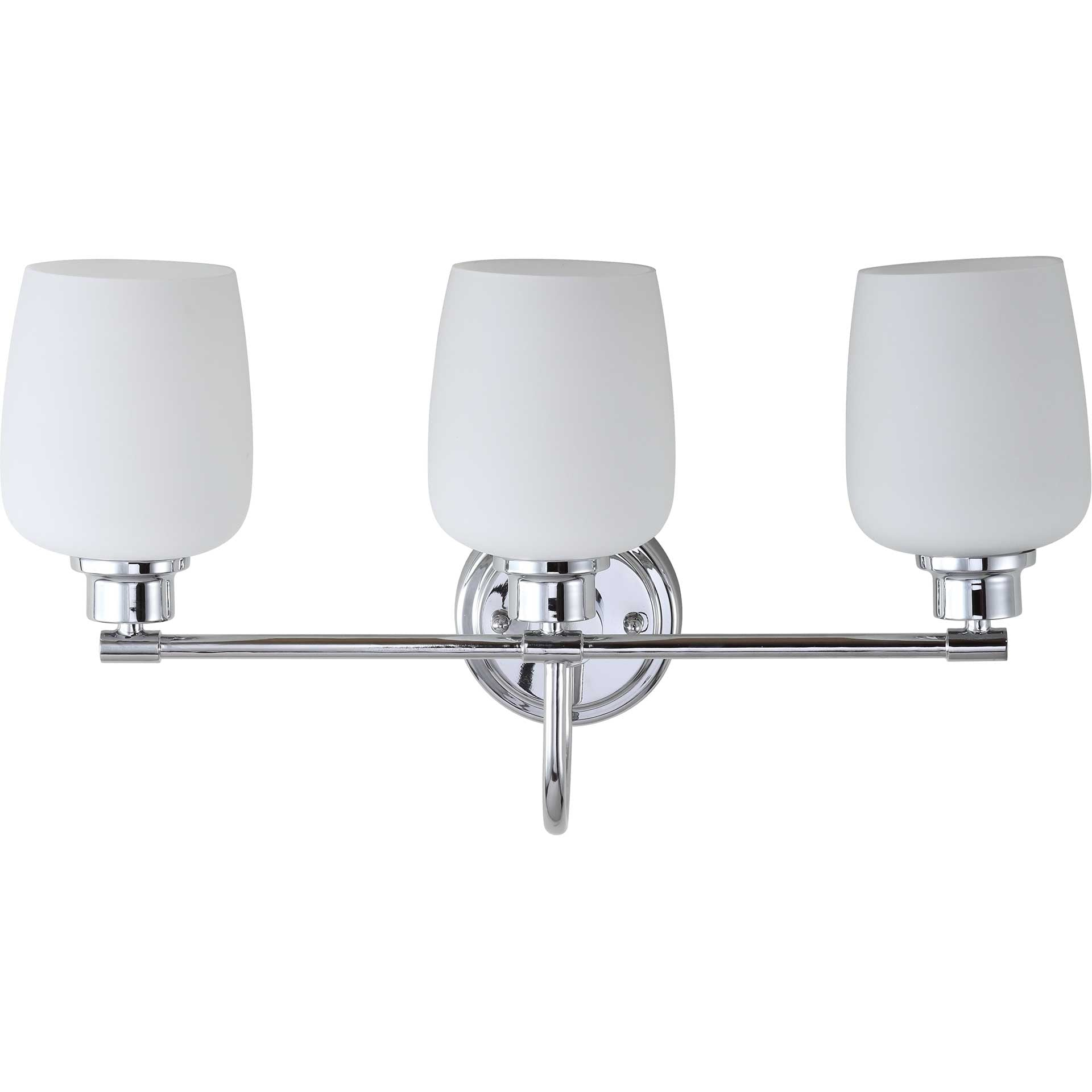 Leslie Three Light Bathroom Sconce Chrome