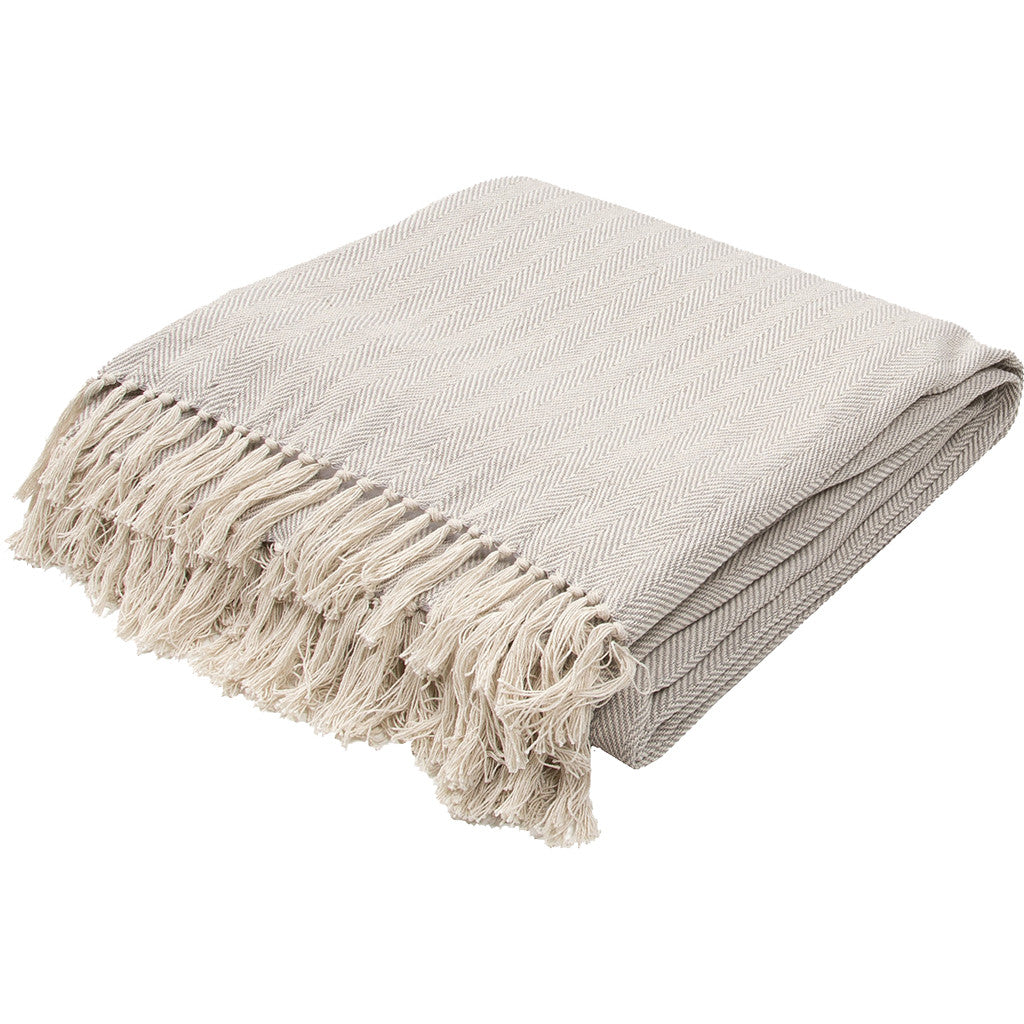 Seabreeze Neutral Gray/Birch Throw