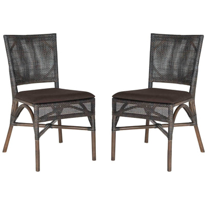 Carla Rattan Side Chair (Set of 2)