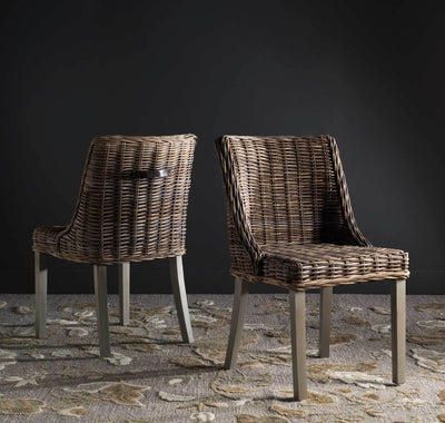 Carlos Wicker Dining Chair (Set of 2)