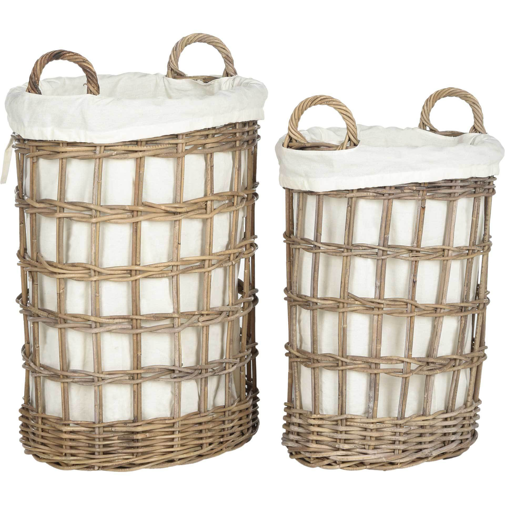 Adrien Wicker Storage Hamper