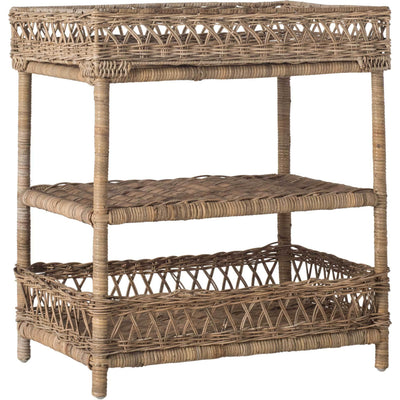 Ajax Wicker 3 Tier Accent Table