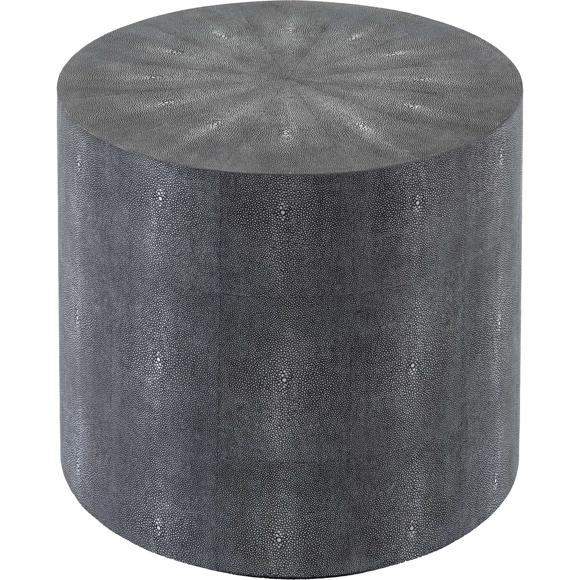 Digress Faux Shagreen End Table Black