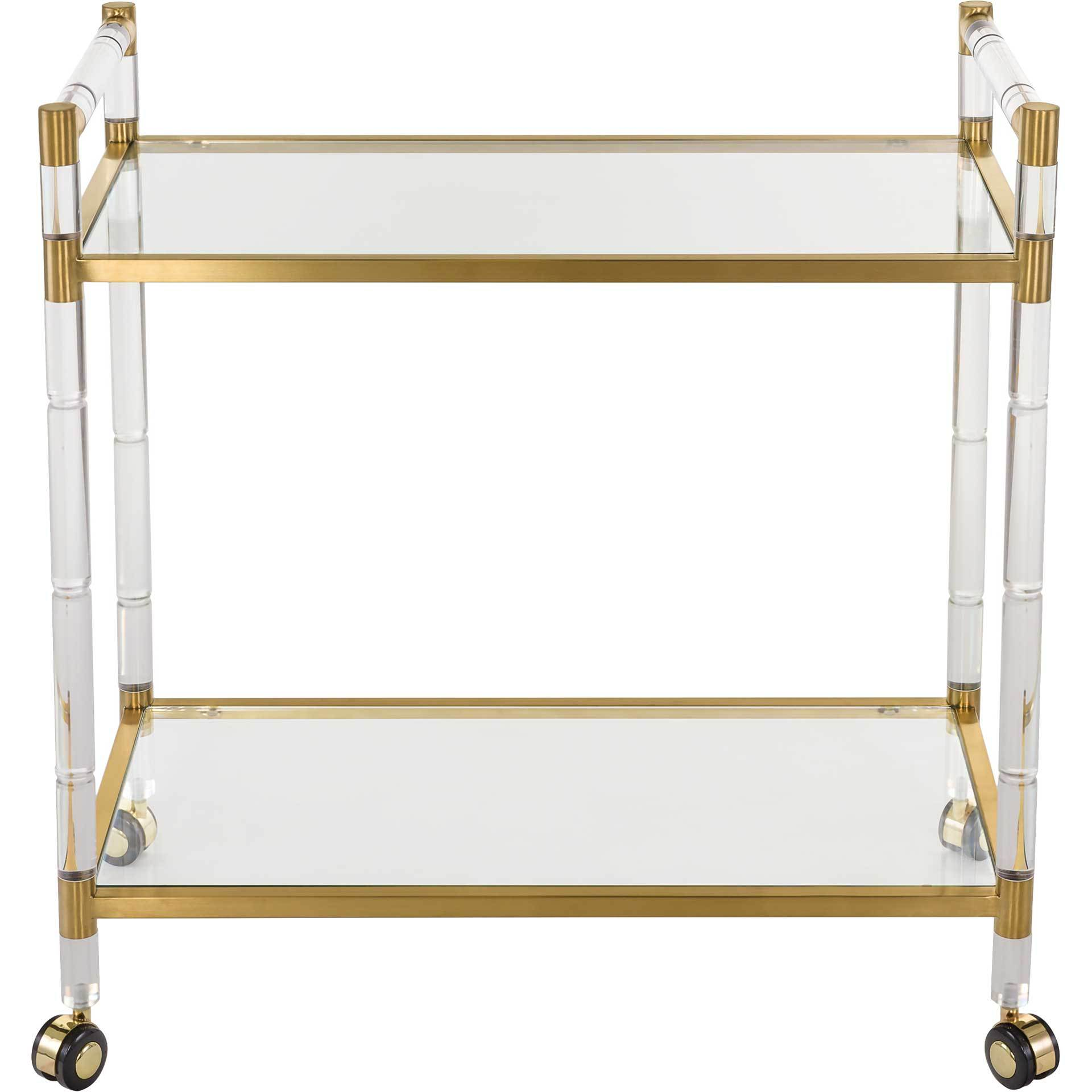 Dustin Bar Trolley Clear/Brass