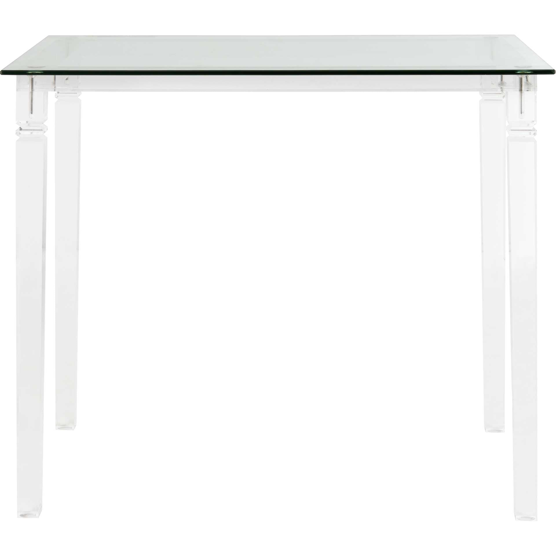Amish Acrylic Side Table Clear