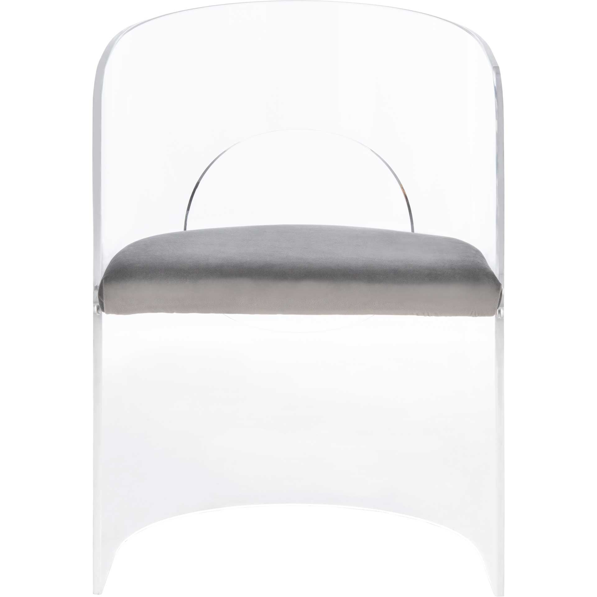 Esther Acrylic Accent Chair Clear/Gray