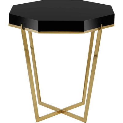 Dakota End Table Gold/Black