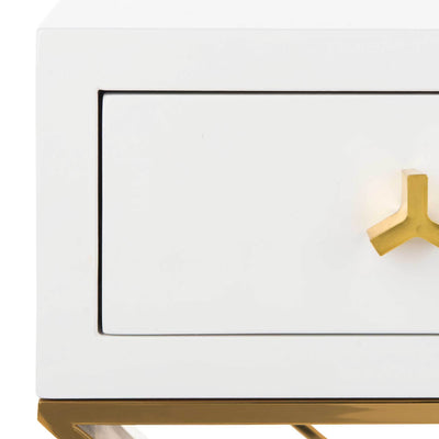 Yoali Side Table White/Gold