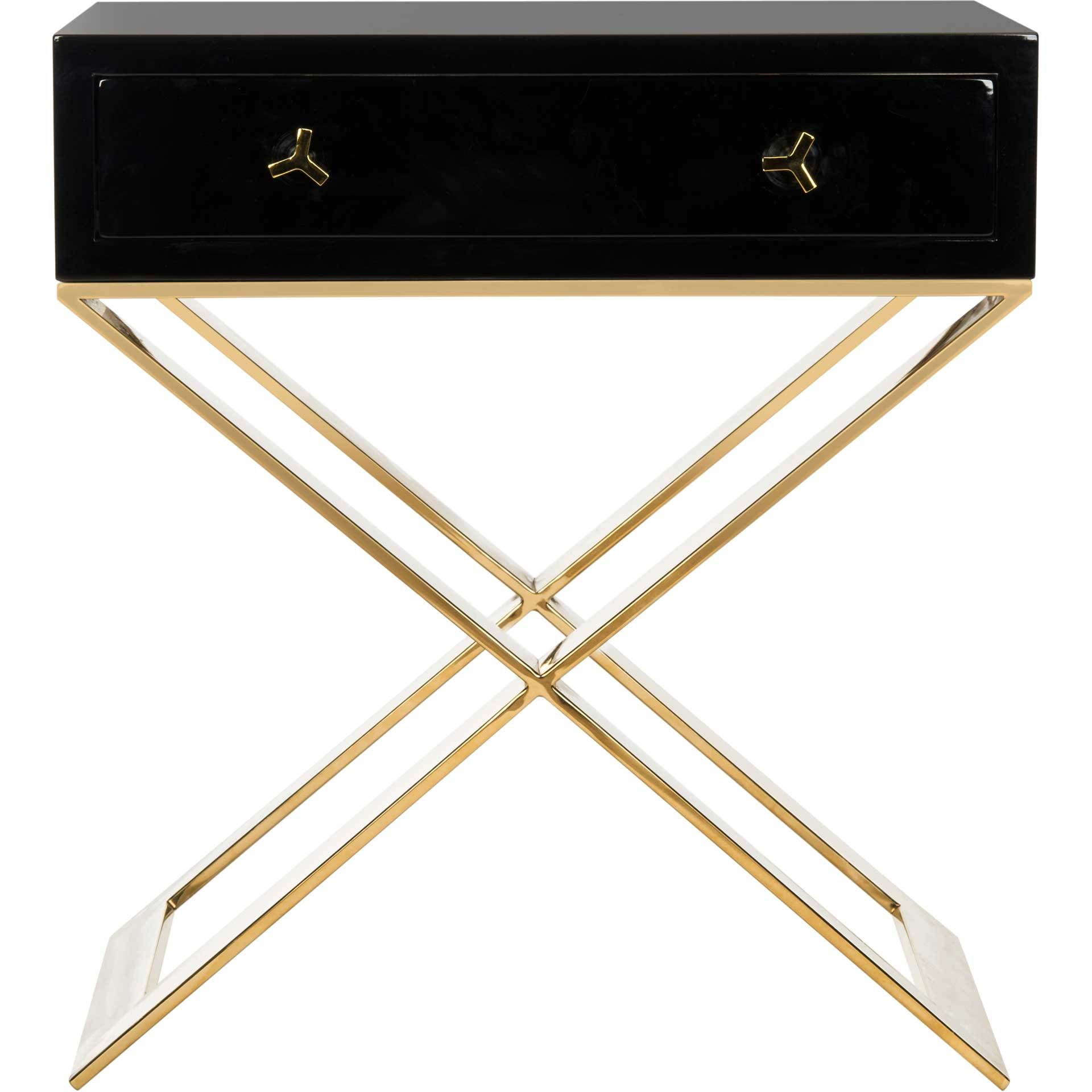 Yoali Side Table Black/Gold