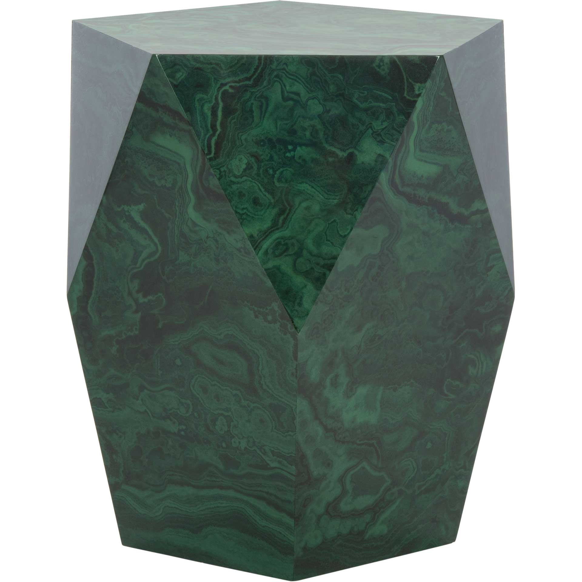 Velora Malachite End Table Jade