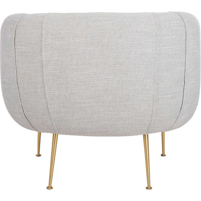 Alejandra Poly Blend Accent Chair Light Gray