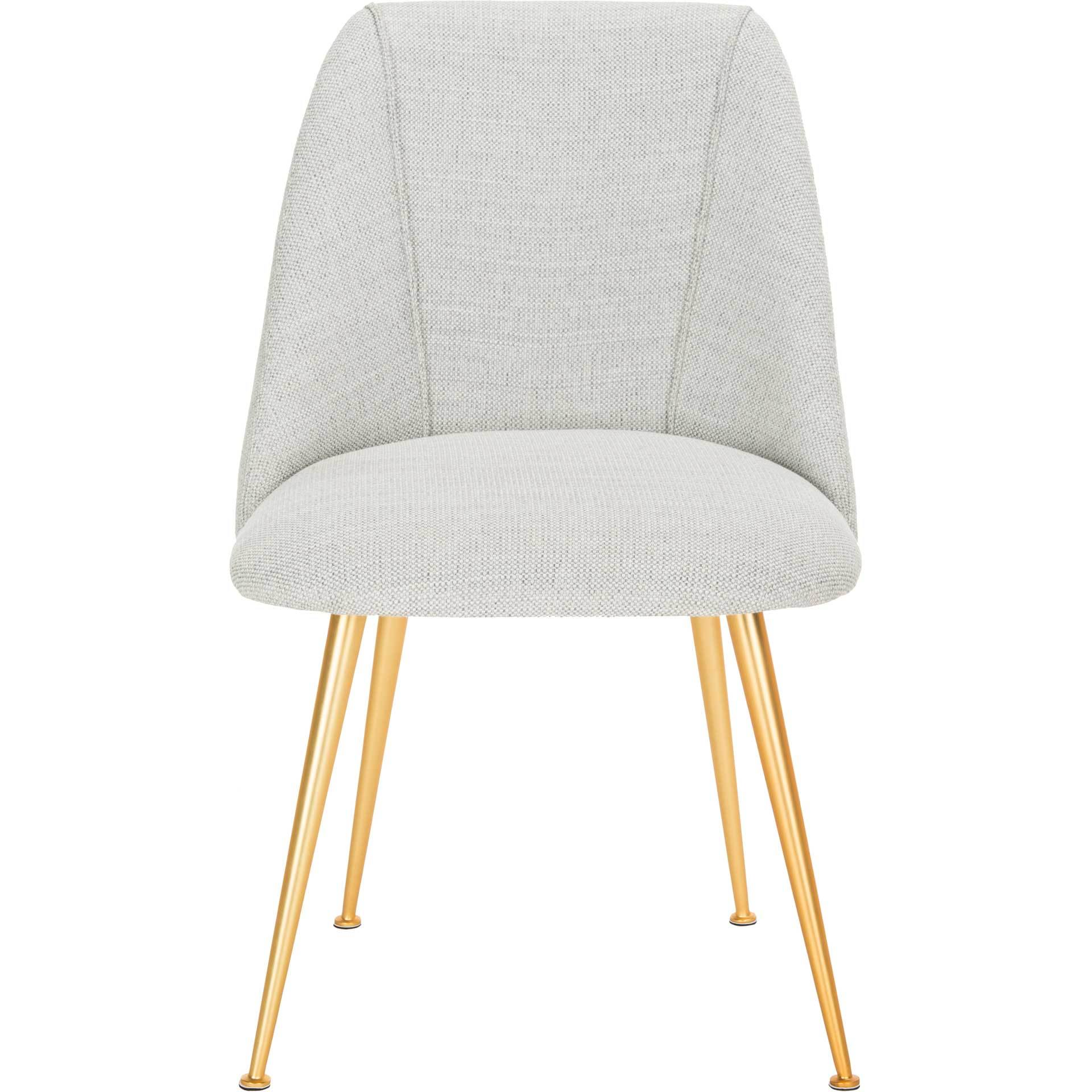 Forrest Side Chair Light Gray/Gold