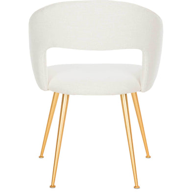 Lockwood Arm Chair Creme/Gold