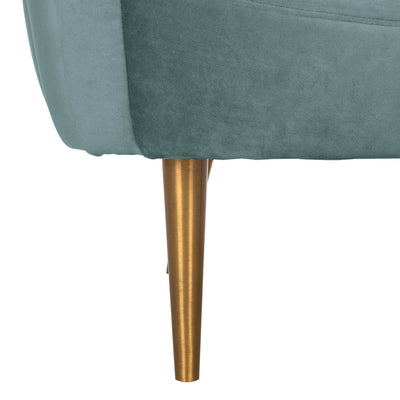 Raymond Channel Tufted Tub Chair Seafoam/Gold