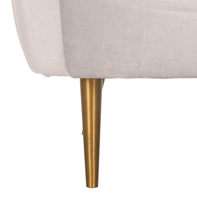 Raymond Channel Tufted Tub Chair Pale Taupe/Gold
