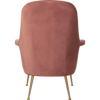 Aidan Velvet Arm Chair Dusty Rose/Gold