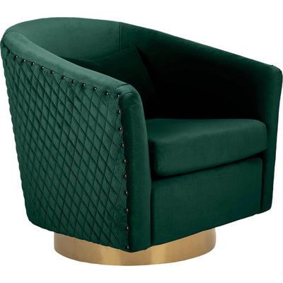 Clarissa Quilted Swivel Tub Chair