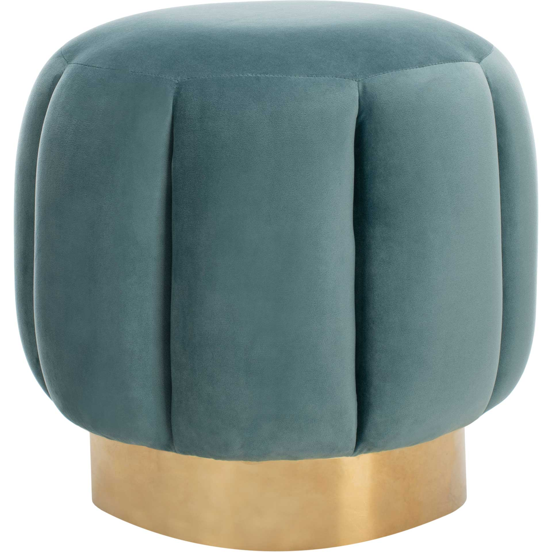 Maleah Channel Tufted Otttoman Seafoam