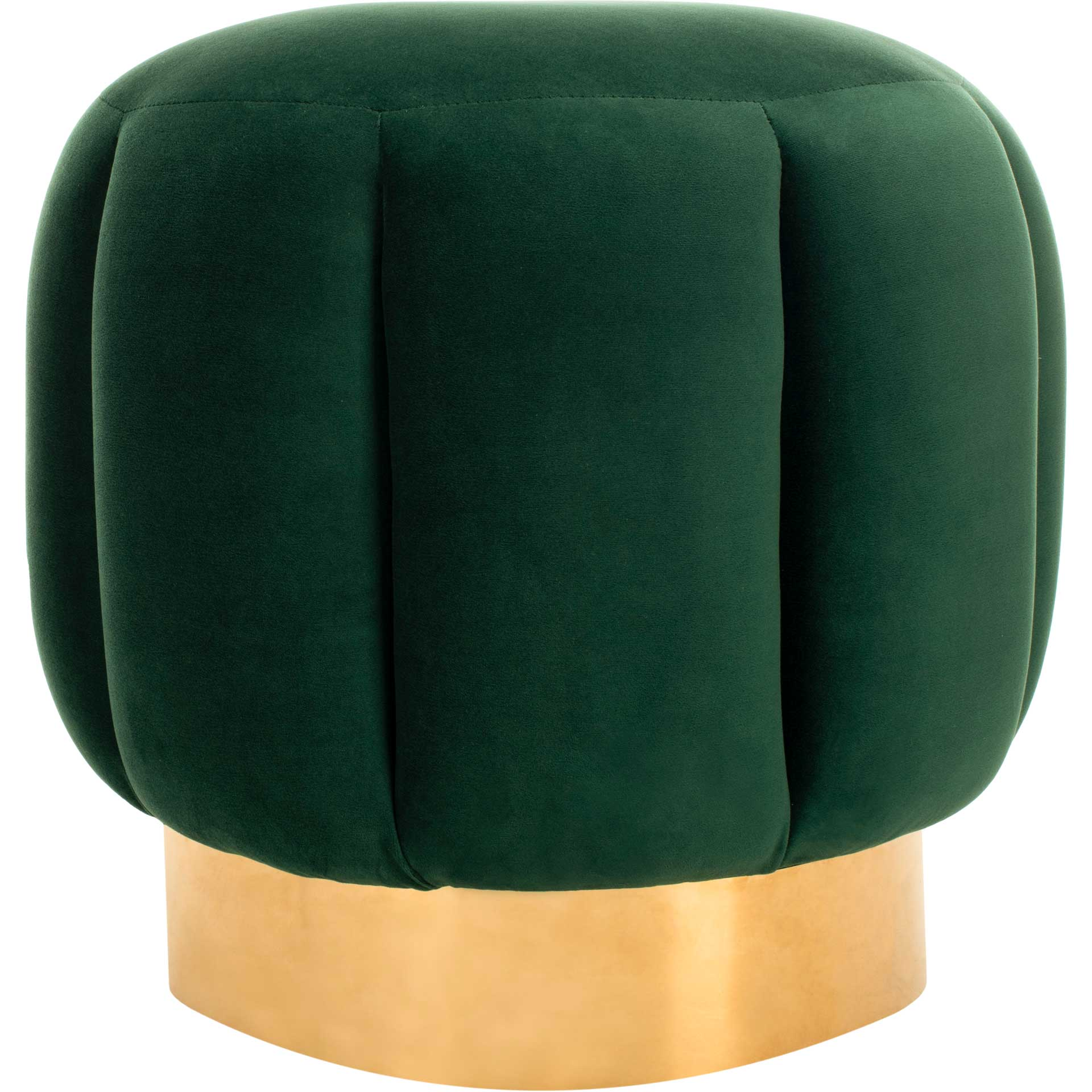Maleah Channel Tufted Otttoman Emerald