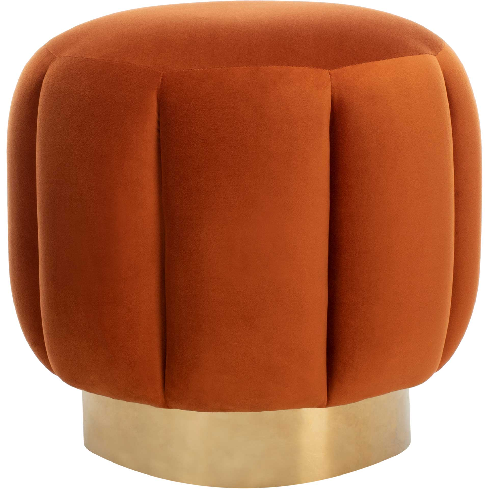Maleah Channel Tufted Otttoman Sienna