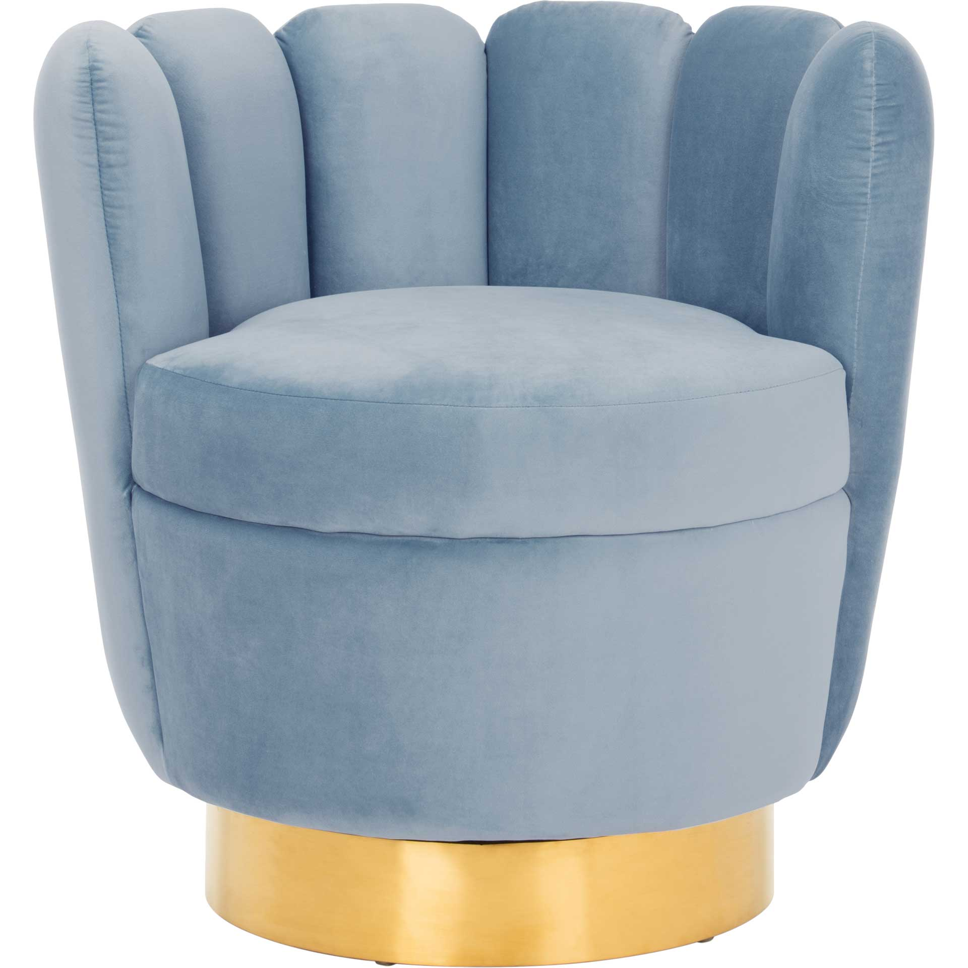 Arbor Channel Tufted Chair Light Blue