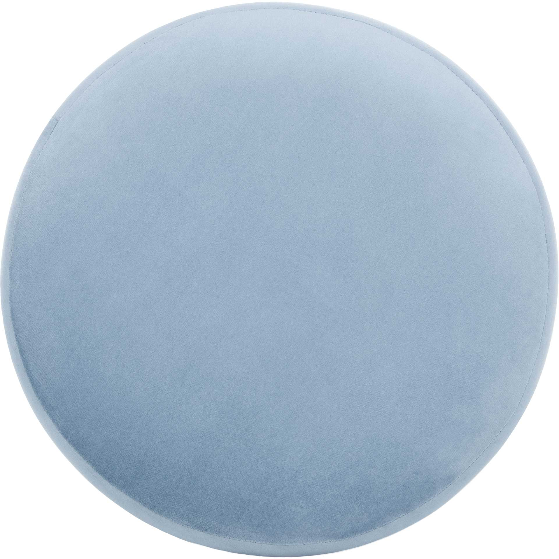 Skeat Gold Base Ottoman Light Blue