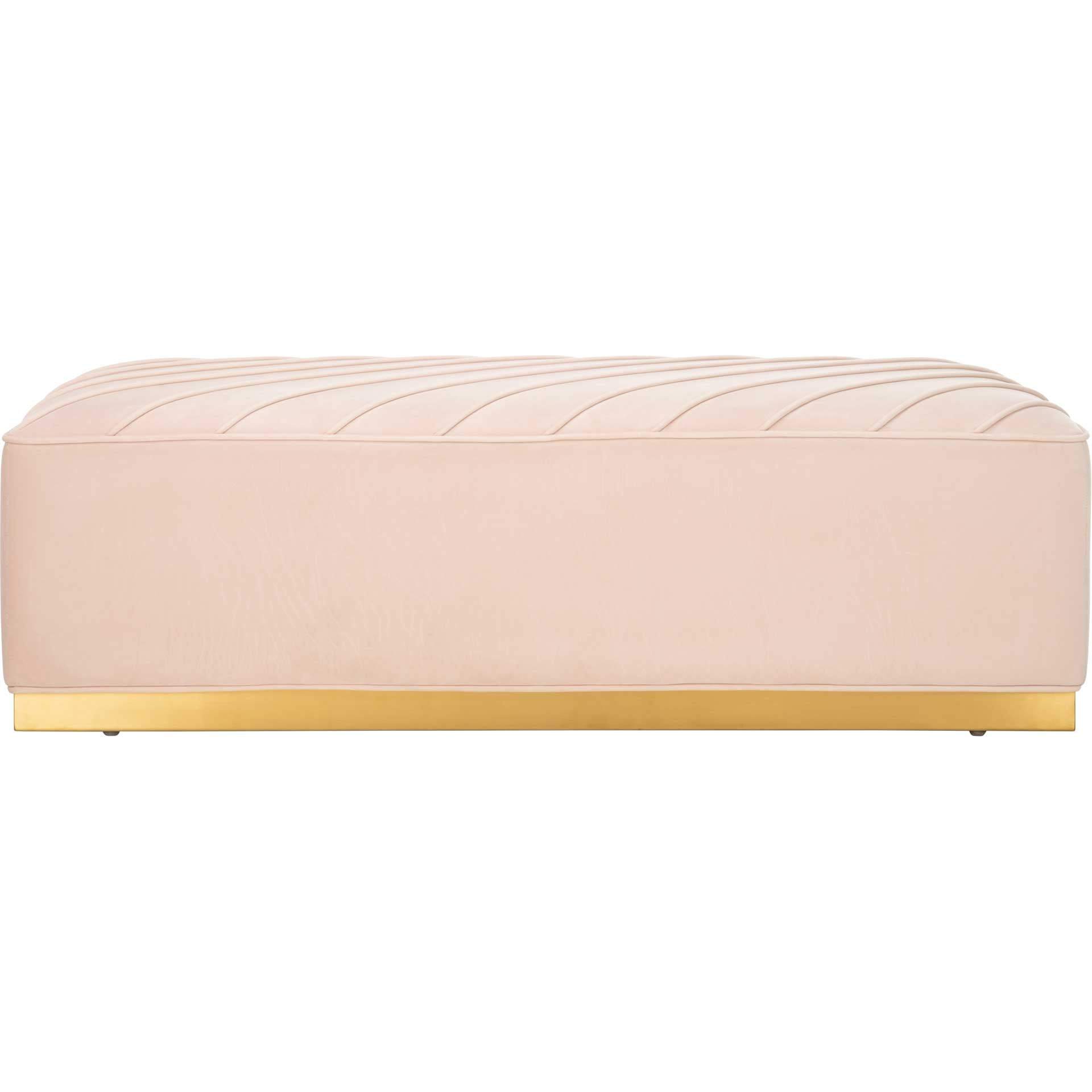 Lilith Diagonal Tufted Ottoman Light Pink