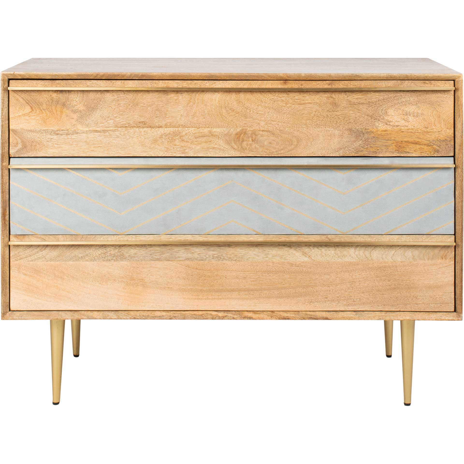Tieton Cement Chest Natural Mango/Brass/Cement