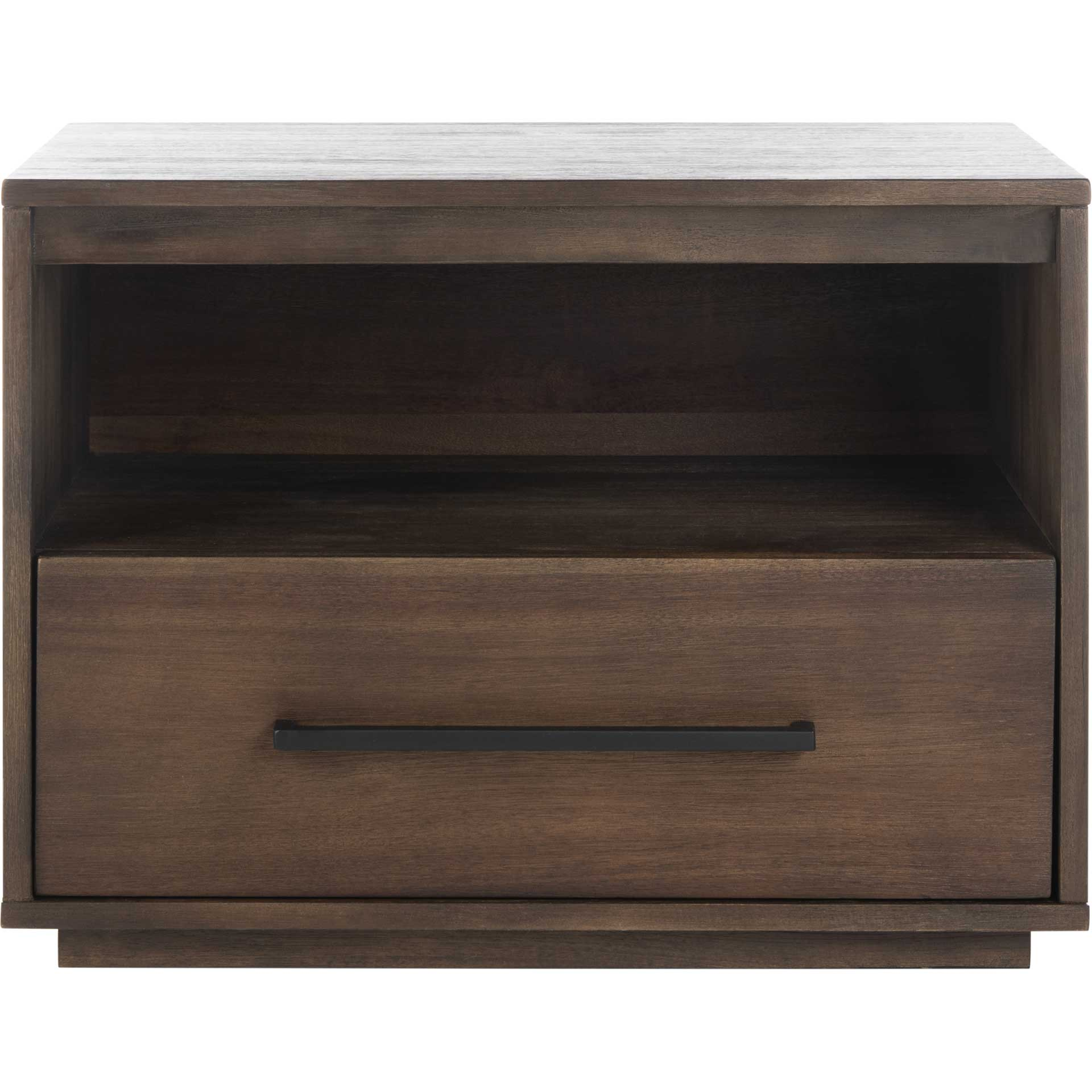 Magna 1 Drawer Nightstand Dark Chocolate