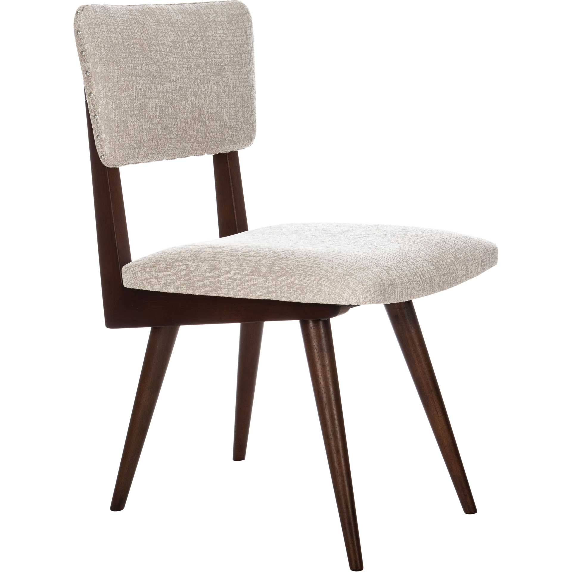 August Dining Chair Taupe/Dark Walnut (Set of 2)
