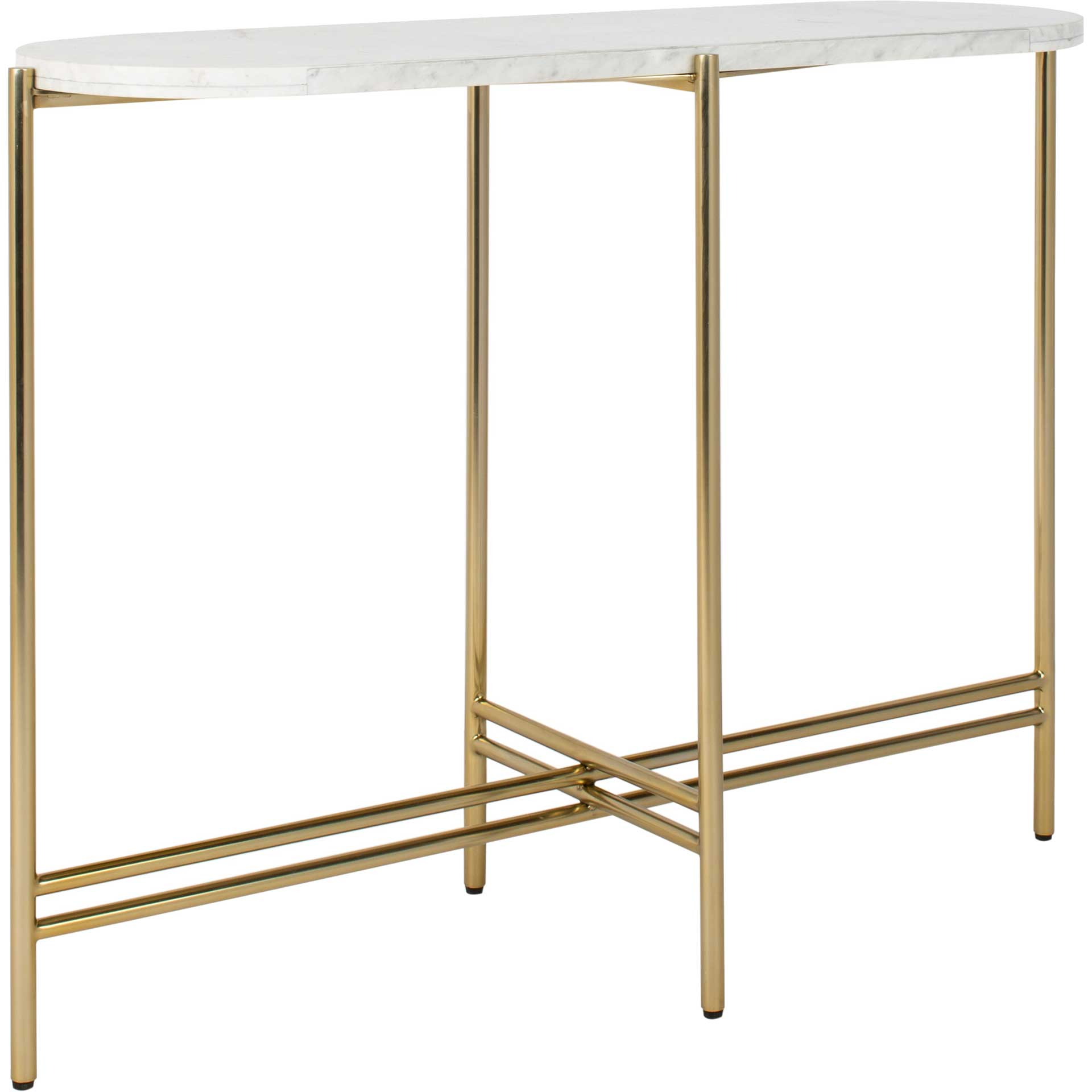 Caden Small Console Table White/Gold