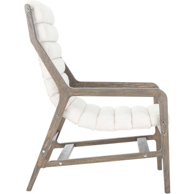 Delegation Channel Tufted Chair White