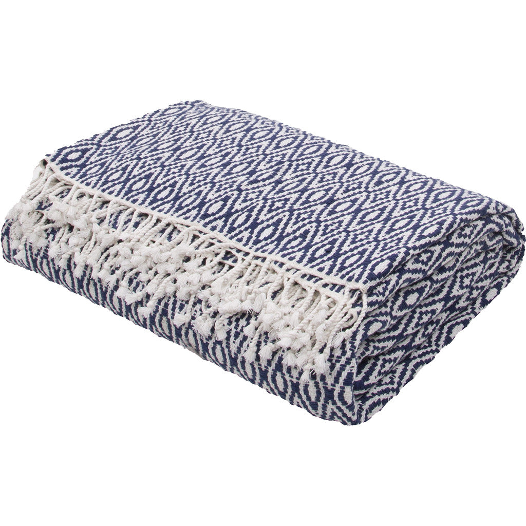 Spirit Insignia Blue/Cloud Dancer Throw
