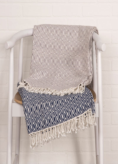 Spirit Opal Gray/Cloud Dancer Throw